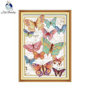 Butterflies Fly Freely Cross Stitch Kit
