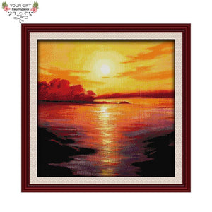 The Sea In Twilight Cross Stitch Kit