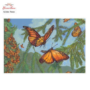 Butterfly Flock Cross Stitch Kit