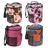 Big Capacity Cylinder Storage Bag to Hold Knitting/Crochet Projects and Tools