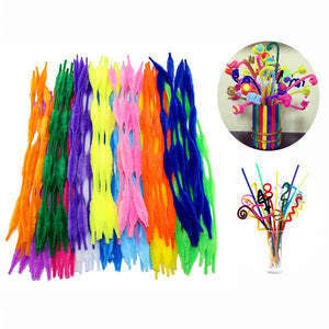 Children's Colorful Plush Sticks