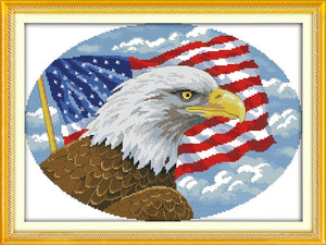 Bald Eagle Cross Stitch Kit
