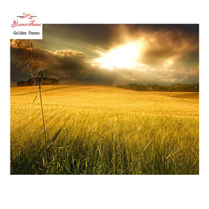 Golden Field Diamond Painting Kit