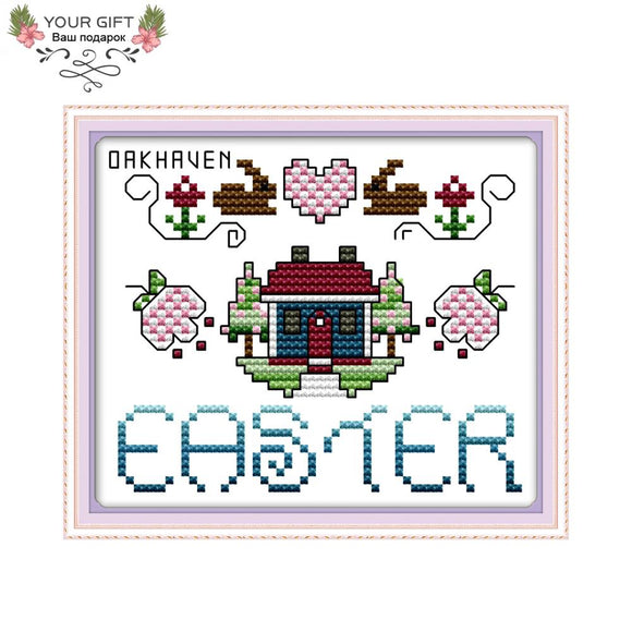 Easter Cross Stitch Sampler Kit