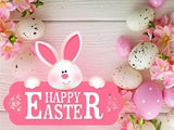 Happy Easter Rabbit and Eggs Diamond Painting Kit