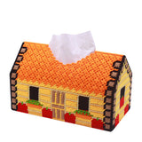 Plastic Canvas  House Napkin or Tissue Box Cover Kit