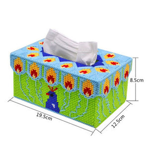 Green Peacock Tissue Box Cover