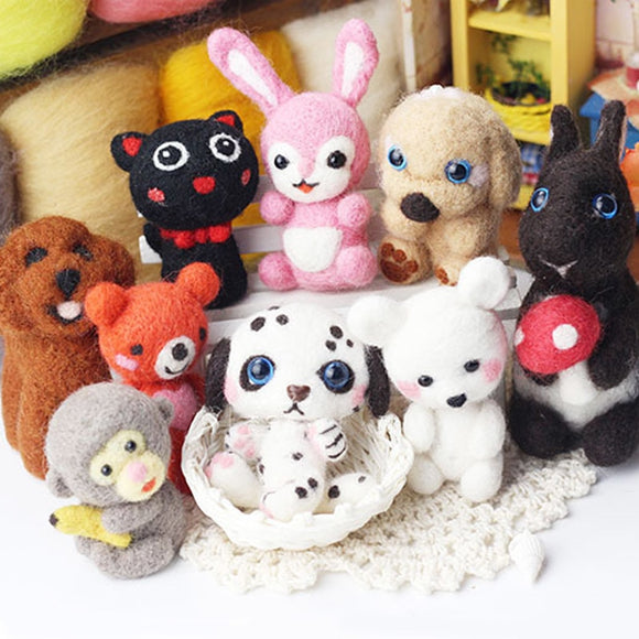 Lovely Animal Wool Felting Kits