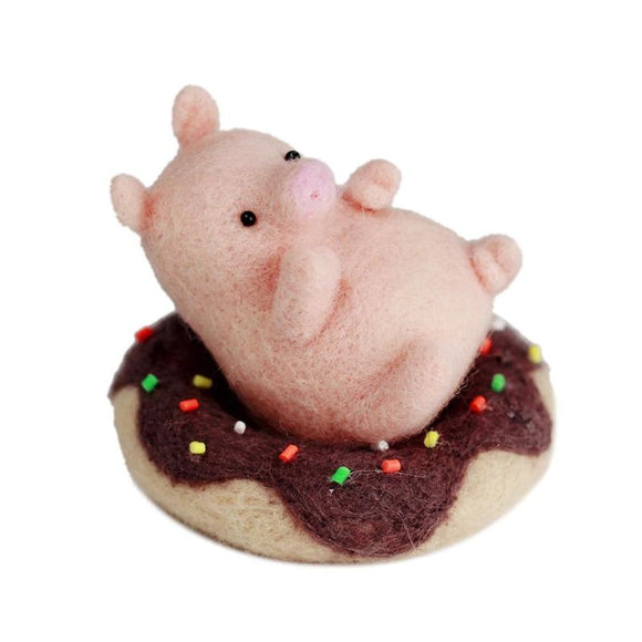 Pig and Donut Felting Kit