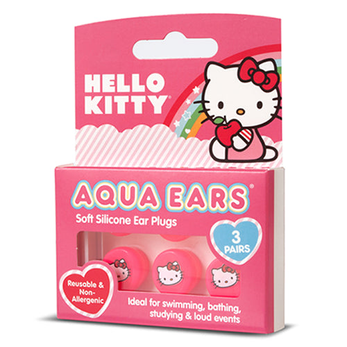 Aqua Ears - Hello Kitty silicone kids ear plugs for water protection