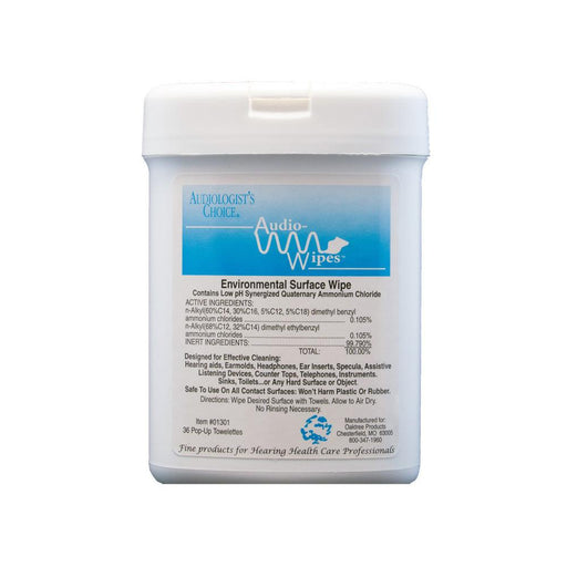 AudioWipes 36 - Alcohol free towelettes for hearing aids HEARING AID ODYO Shop