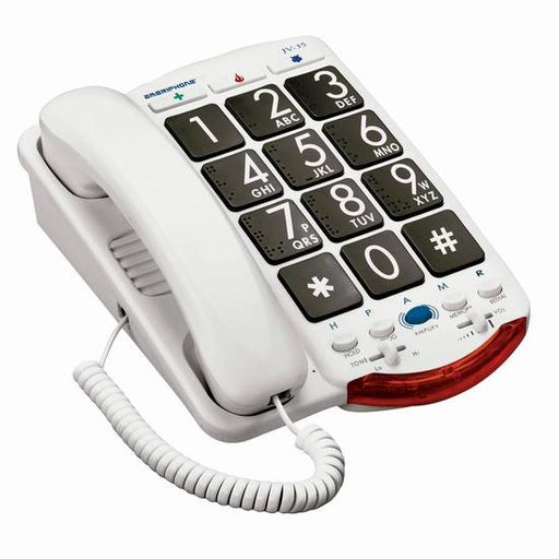 Clarity JV35 - Corded amplified phone with braille characters +37dB - ODYO Shop