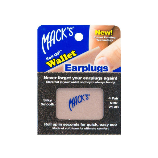 Mack's - Roll-ups wallet ear plugs NRR 21dB - ODYO Shop