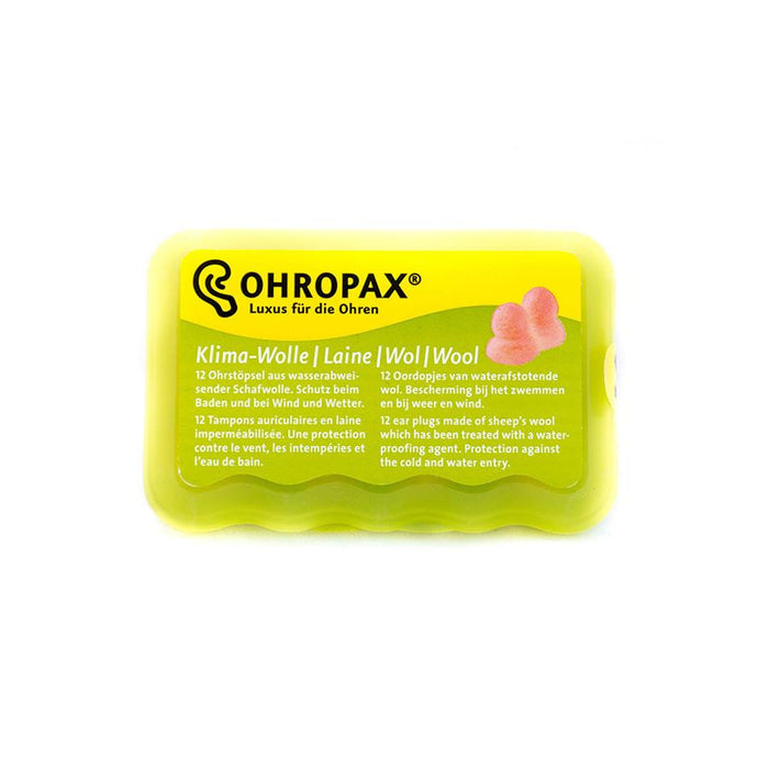 Ohropax ClimateWool - Waterproof wool ear plugs HEARING PROTECTION ODYO Shop