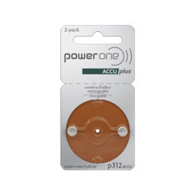 Power One - ACCU plus rechargeable hearing aid batteries - ODYO Shop