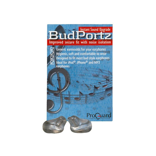 ProGuard BudPortz - Ear molds for earphones HEARING PROTECTION ODYO Shop