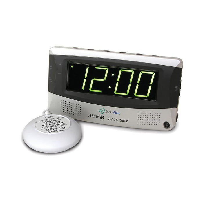 Sonic Alert SBR350SS Boom - Alarm clock with AM/FM radio ASSISTIVE LISTENING DEVICES ODYO Shop