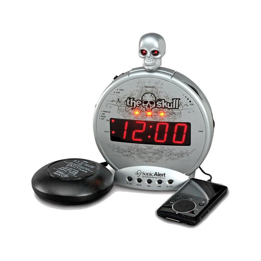 Sonic Alert SBS550BC The Skull - Alarm clock with MP3 player input ASSISTIVE LISTENING DEVICES ODYO Shop