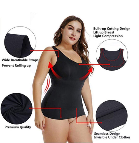 Camis Camis can also be built-in bra style, open bust or designed to be worn over a bra. Most are made to be seen, so you can wear them as outerwear or layered under a jacket. The cami will smooth your tummy and waist. If you're going to wear a cami anyway, choose one that also smooths.