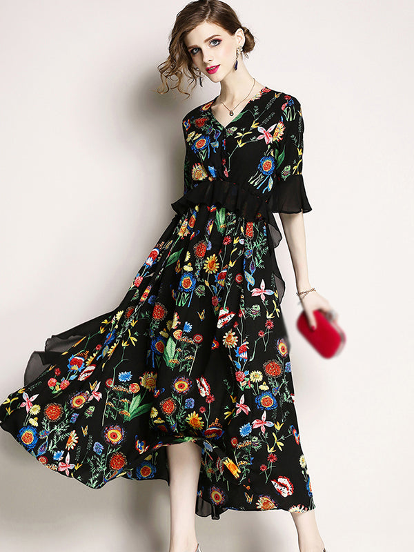 https://www.dressab.com/collections/casual-dresses/products/fashion-behomia-v-neck-short-flare-sleeve-high-waist-maxi-skater-dress