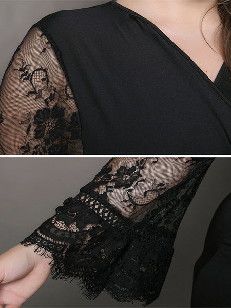 Casual Oversize Stitching Lace Bodycon Dress