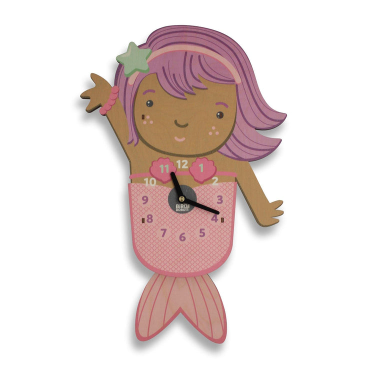 mermaid wall clock for kids
