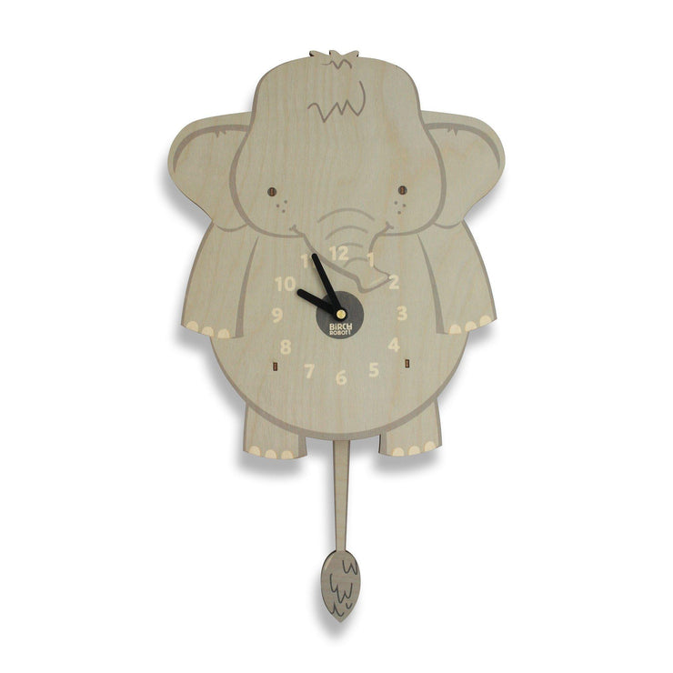 elephant kids wall clock