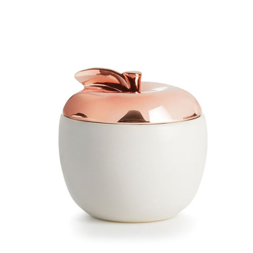 Illume Cider Woods Ceramic Apple Candle
