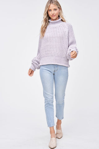 Lilac Chunky Knit Sweater