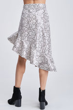 Load image into Gallery viewer, Snakeskin Print Asymmetrical Skirt