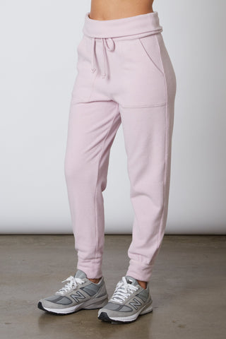 Fold Over Hacci Jogger