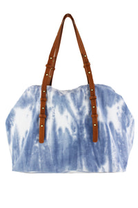 Blue Tie Dye Canvas Bag