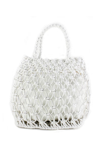 White Perforated Mini Bag
