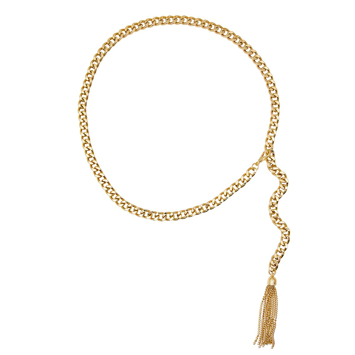 Gold Tassel Ann Belt