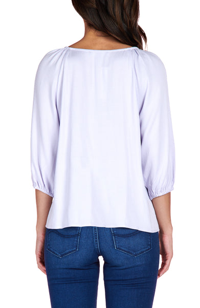 Modern Button Front Top