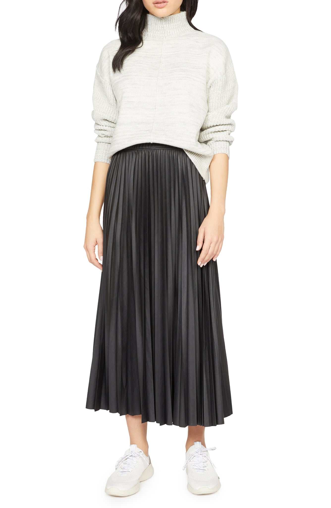 Top Secret Pleated Midi Skirt