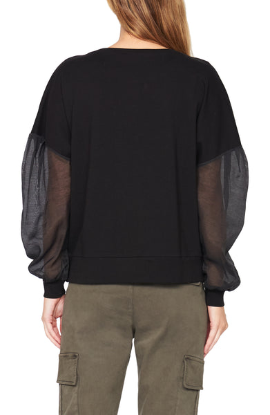 Sheer Sleeve Sweatshirt