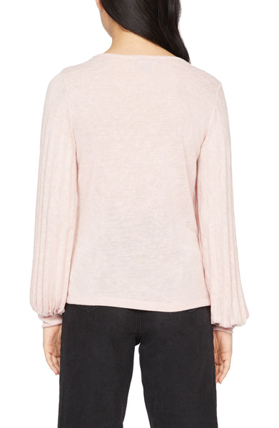 All Out Pleated Knit Top