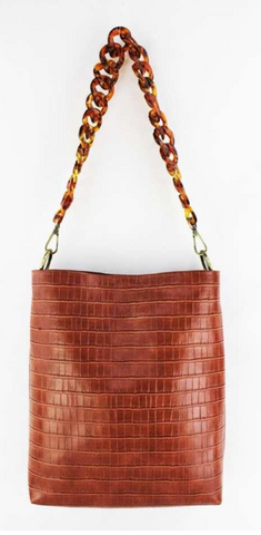 Brown Croc Mini Tote