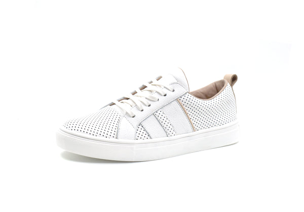 Ithaca perforated Sneaker with Side Stripes
