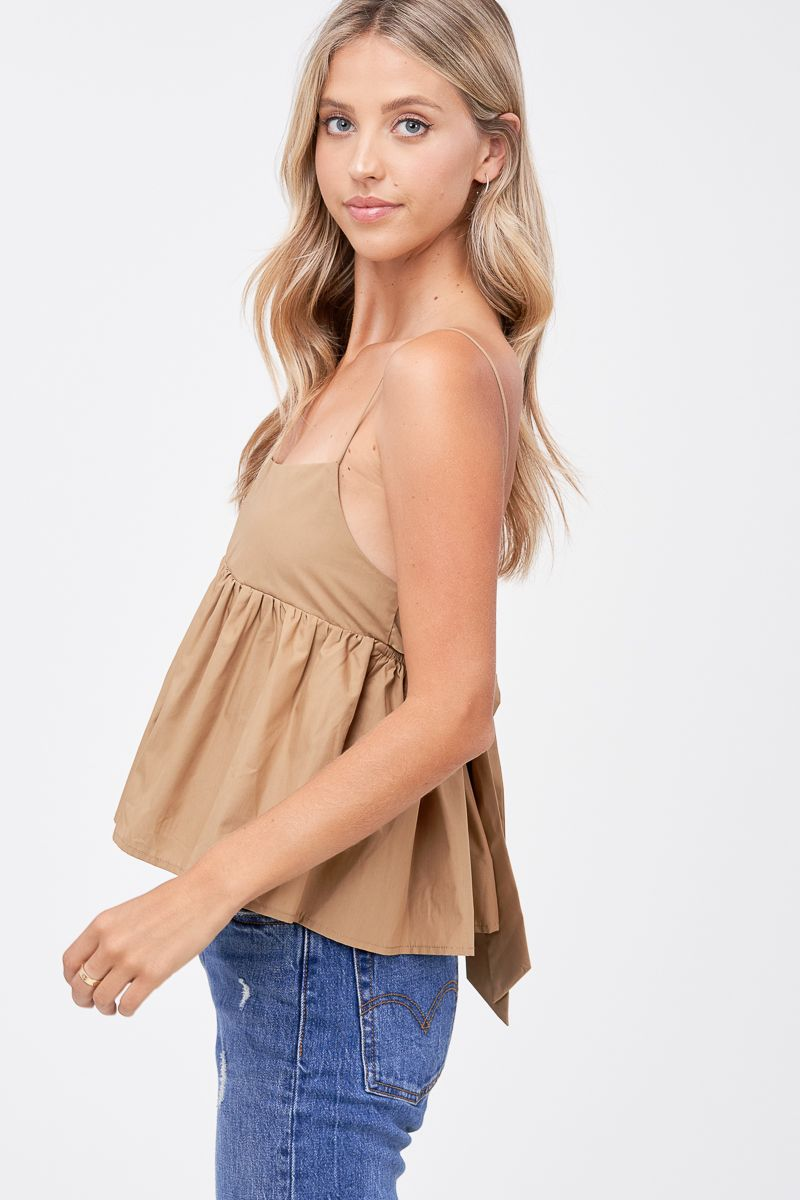 Babydoll Top With Back Ties