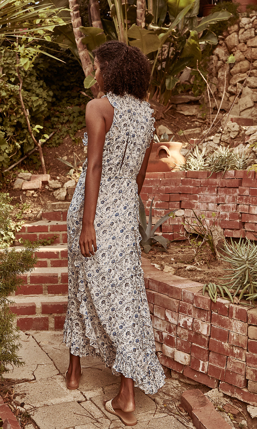 Chriselle Woodblock Floral Maxi