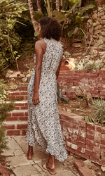 Load image into Gallery viewer, Chriselle Woodblock Floral Maxi