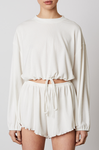 Cinched Hacci Top