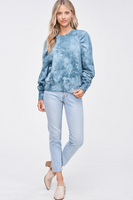 Load image into Gallery viewer, Tie Dye Puffed Sleeve Sweatshirt