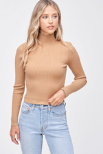 Load image into Gallery viewer, Turtleneck Ribbed Top