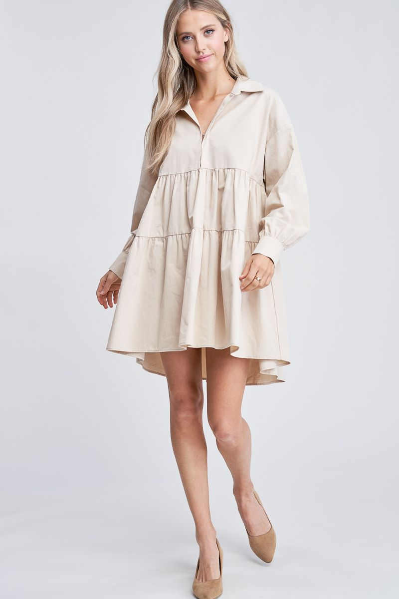 Cotton Poplin Mini Dress