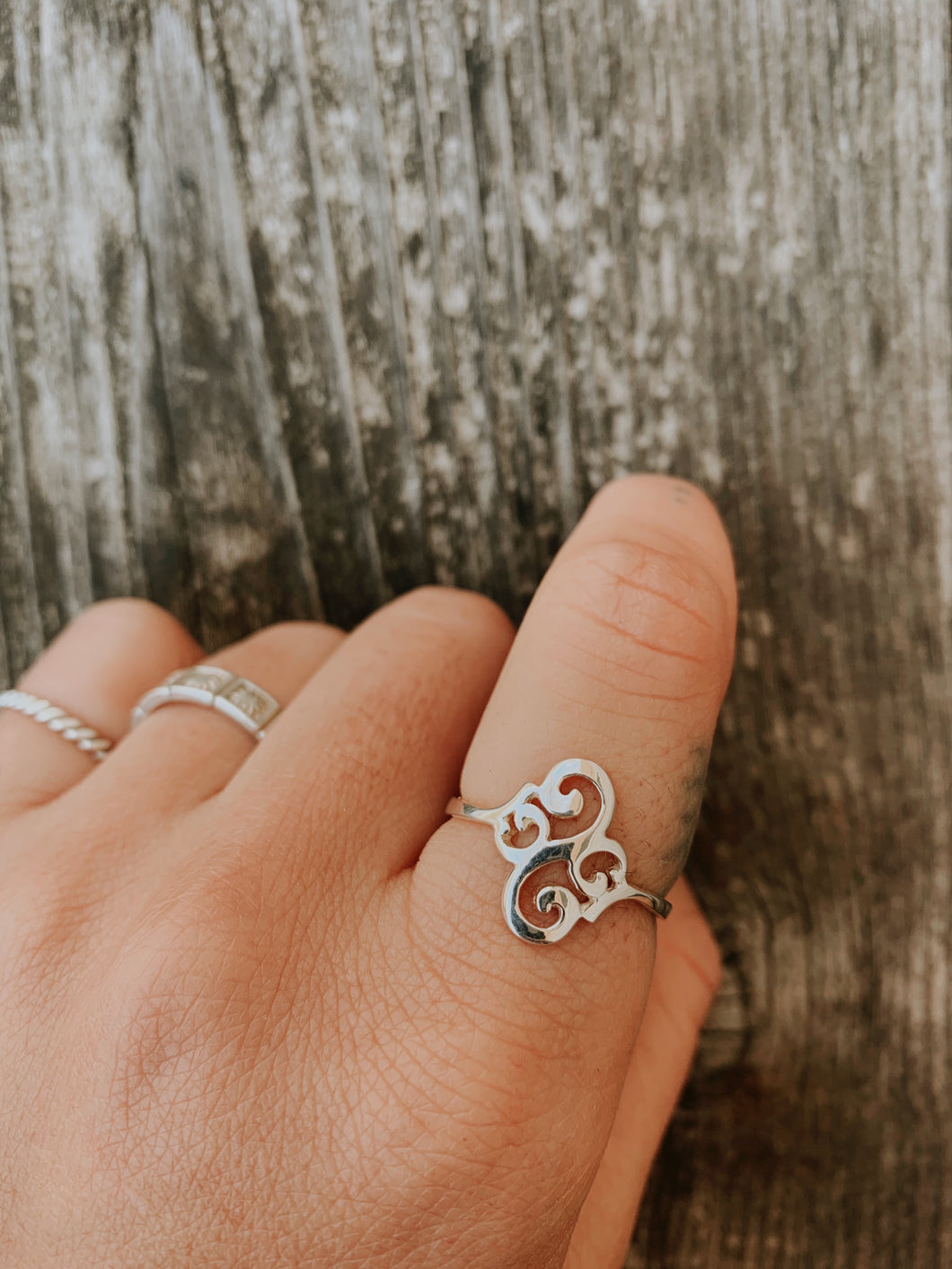 Sterling Silver Swirly Ring