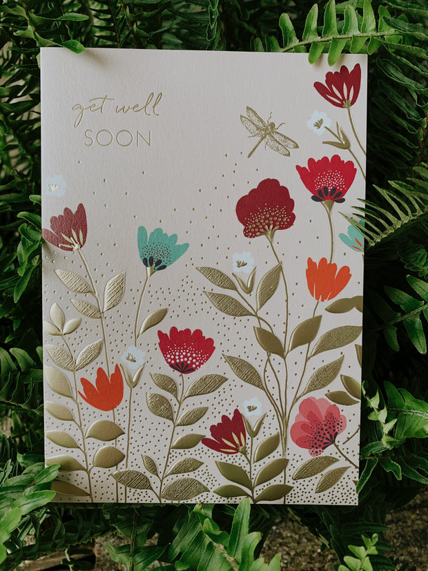 Get Well Soon Card- Beautiful Flowers