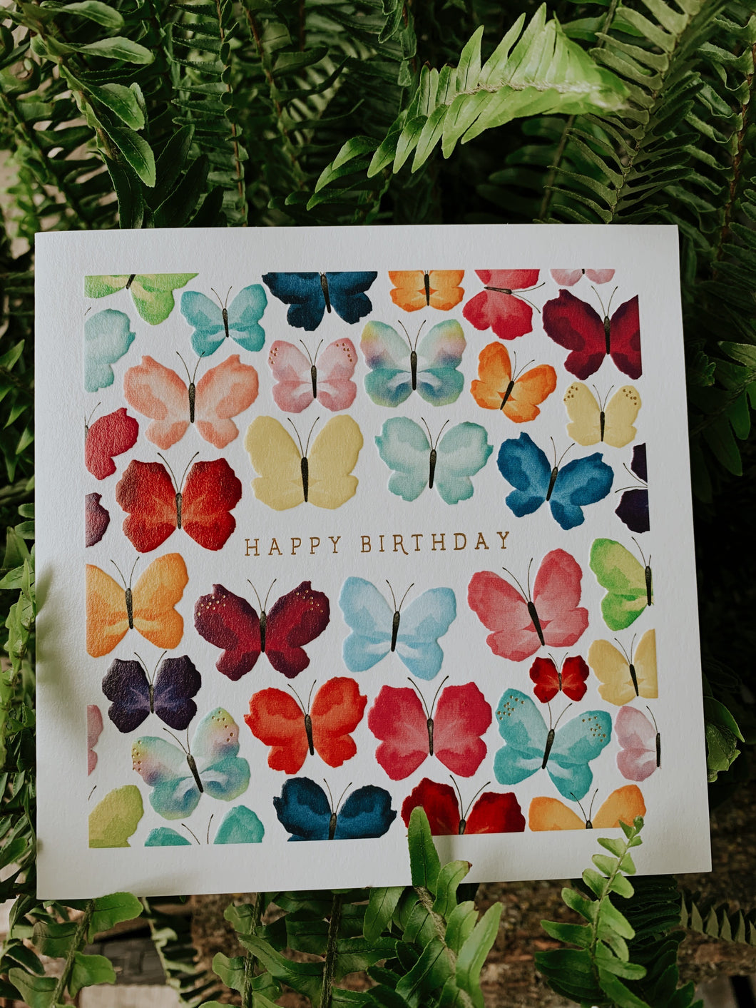 Happy Birthday Card- Painted Butterflies